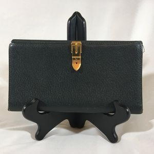 Gucci green leather wallet